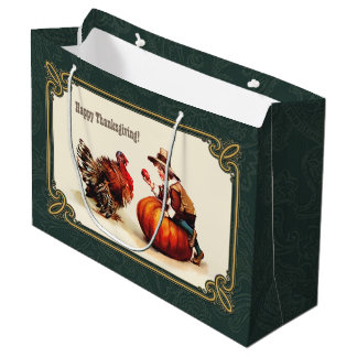 Vintage Design Thanksgiving Gift Bags