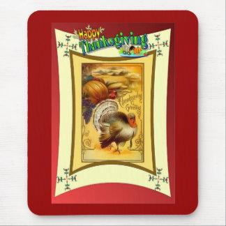 Vintage design THanksgiving mouse mat Mouse Pad