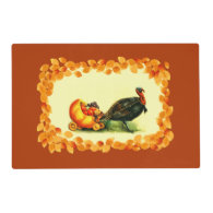 Vintage Design Thanksgiving Placemats