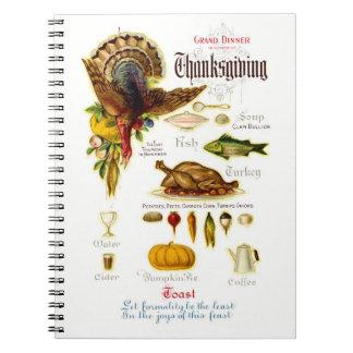 Vintage Design Thanksgiving Recipe Book Notebooks