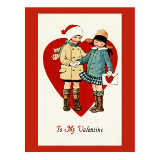 Vintage Design Valentine's Day Postcard