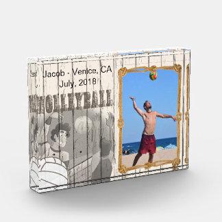 Vintage Design Volleyball Player - DIY Photo Photo Block