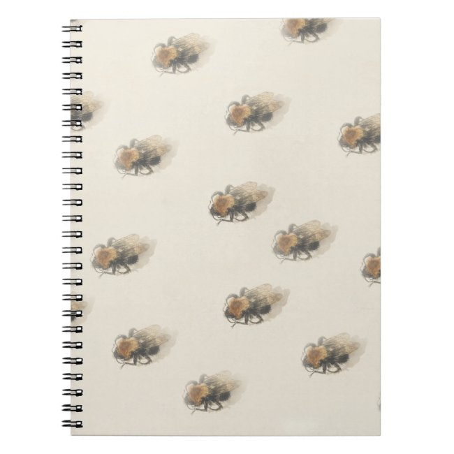 Vintage design with bumblebees Notebook
