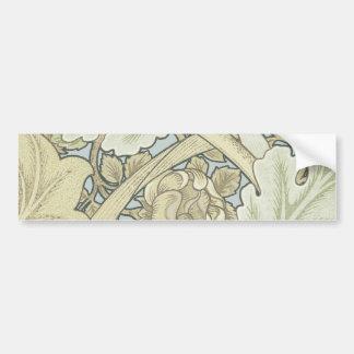 Vintage Designer Art Nouveau Floral Pattern Bumper Sticker