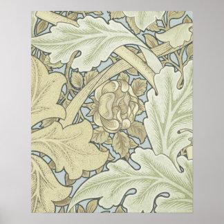 Vintage Designer Art Nouveau Floral Pattern Poster