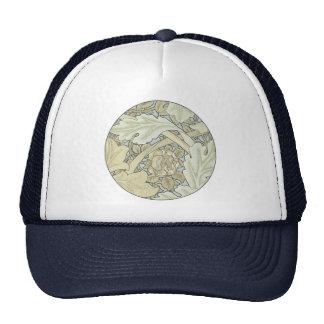 Vintage Designer Art Nouveau Floral Pattern Trucker Hat