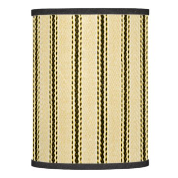 "Halloween Themed "" Vintage Designs "" BLK & CREAM PINSTRIPE_SHADE Lamp Shade"