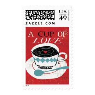 Vintage Desktop - Coffee Postage Stamp