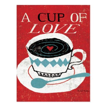 Coffee Themed Vintage Desktop - Coffee Postcard