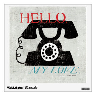 Vintage Desktop - Phone Wall Sticker