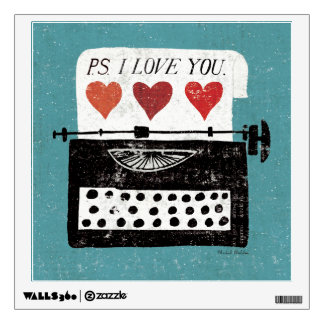 Vintage Desktop - Typewriter Wall Sticker
