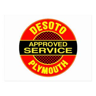 Vintage DeSoto service sign Postcard
