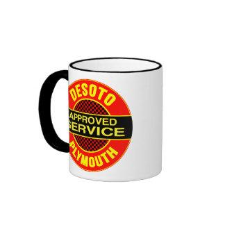 Vintage DeSoto service sign Ringer Mug