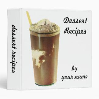 Vintage Dessert; Chocolate Shake Vinyl Binder