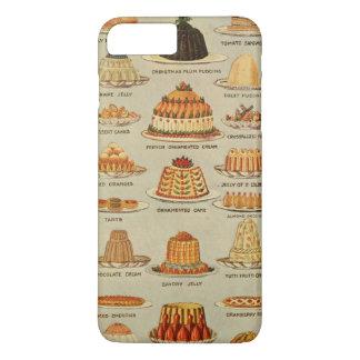 Vintage Dessert Snack Illustration iPhone 8 Plus/7 Plus Case