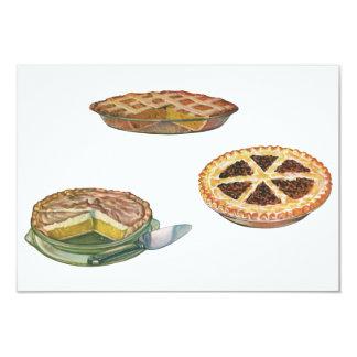 Vintage Desserts Pies Pecan Pumpkin Lemon Meringue Card