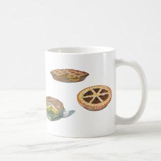 Vintage Desserts Pies Pecan Pumpkin Lemon Meringue Coffee Mug