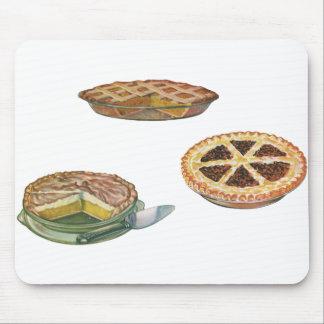 Vintage Desserts Pies Pecan Pumpkin Lemon Meringue Mouse Pad