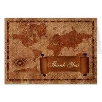 vintage destination wedding Thank You Card