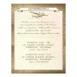 vintage destination wedding ticket- accommodations custom letterhead