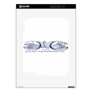 Vintage Detroit & Cleveland Steam Navigation Blue Decals For iPad 2