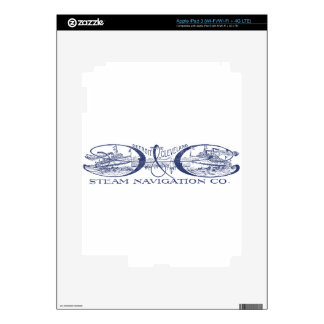 Vintage Detroit & Cleveland Steam Navigation Blue iPad 3 Decal