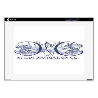 Vintage Detroit & Cleveland Steam Navigation Blue Laptop Skin