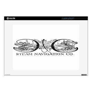 "Vintage Detroit & Cleveland Steam Navigation Co 15"" Laptop Decals"