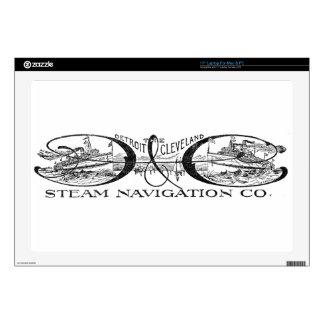 Vintage Detroit & Cleveland Steam Navigation Co Laptop Decals