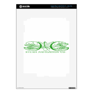 Vintage Detroit & Cleveland Steam Navigation Green Decals For iPad 3