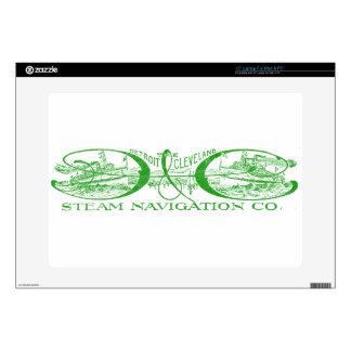 """Vintage Detroit & Cleveland Steam Navigation Green Skin For 15"""" Laptop"""