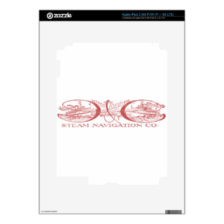 Vintage Detroit & Cleveland Steam Navigation Red iPad 3 Decal