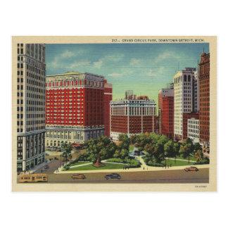 Vintage Detroit Michigan Postales