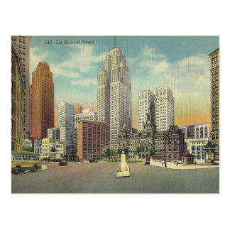 Vintage Detroit Michigan Postcard