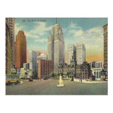 Valentines Themed Vintage Detroit Michigan Postcard