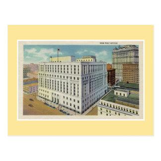 Vintage Detroit New Post Office Postcard