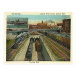 Vintage Detroit River Tunnel Postcard