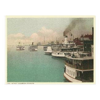 Vintage Detroit Steamers Postcard