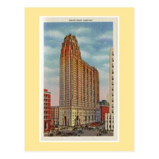 Vintage Detroit Union Trust Company Post Cards