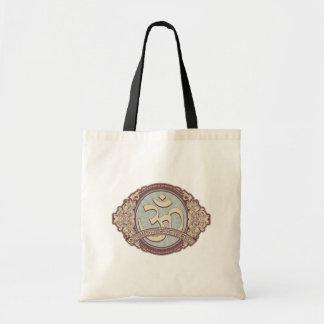 Vintage Devanagari OM Logo Canvas Bags
