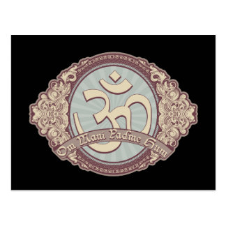 Vintage Devanagari OM Logo Post Cards