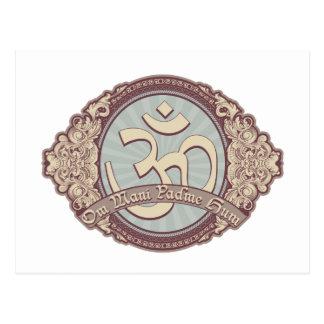 Vintage Devanagari OM Logo Postcard