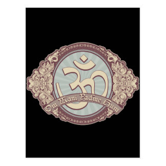 Vintage Devanagari OM Logo Postcards