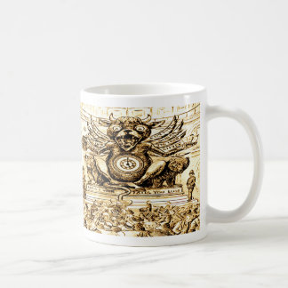 Vintage Devil Mammon Time for Greed Classic White Coffee Mug