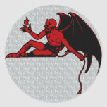 Vintage Devil Round Stickers