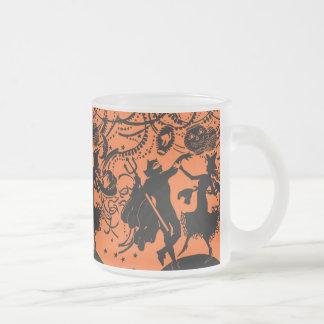 Vintage Devil Witch Dance Silhouette Illustration Mug