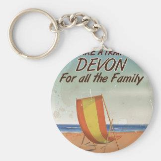 Vintage Devon Holiday poster Keychain