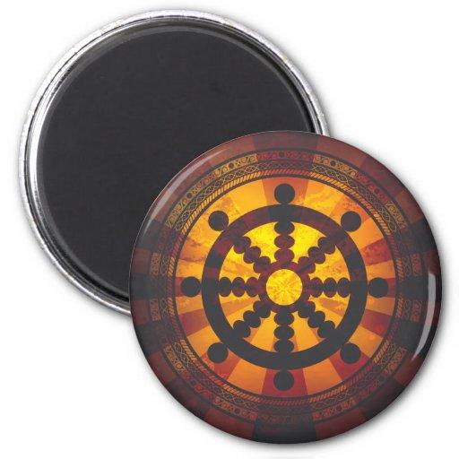 Vintage Dharma Wheel Print Magnet