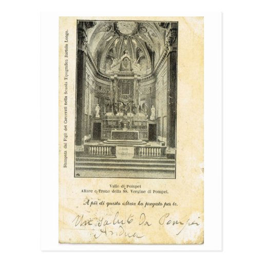 Vintage di Pompeya, 1901, iglesia de Italia, Valle Postales