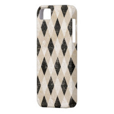 Vintage Diagonal Argyle Grunge iPhone 5s Case